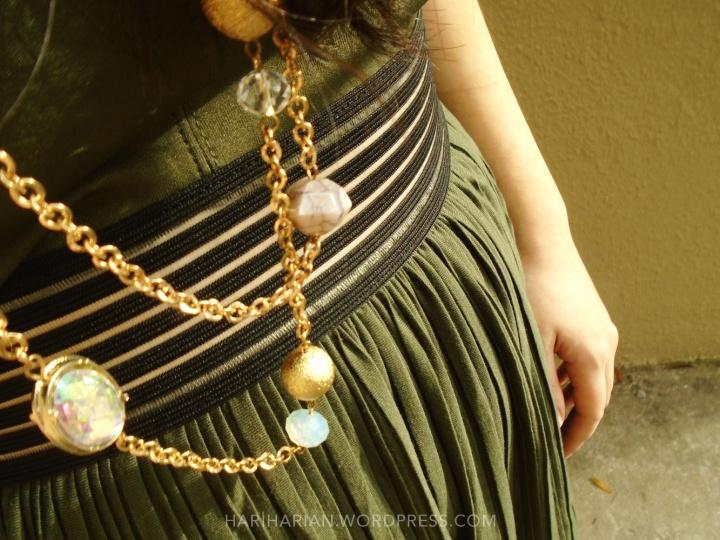 Olive Dress Detail