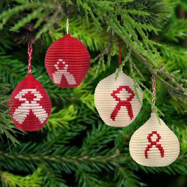 hiv aids ornaments