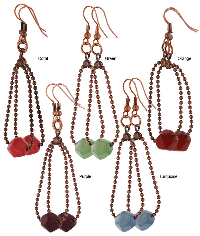 Magdalena Faceted Tagua Earrings