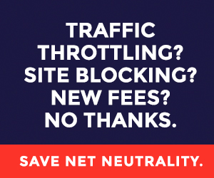 Net neutrality sign