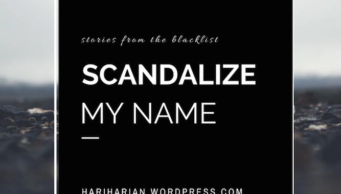 Scandalize My Name pin