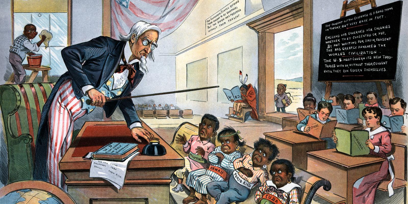 US Imperialist cartoon